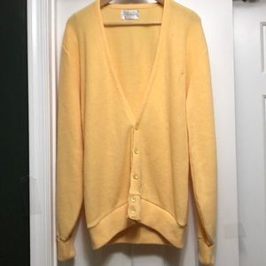 Christian Dior Butter Yellow Cardigan Size Large